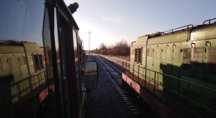 Фото дня в Сыктывкаре: северный поезд готовится к дальней дороге