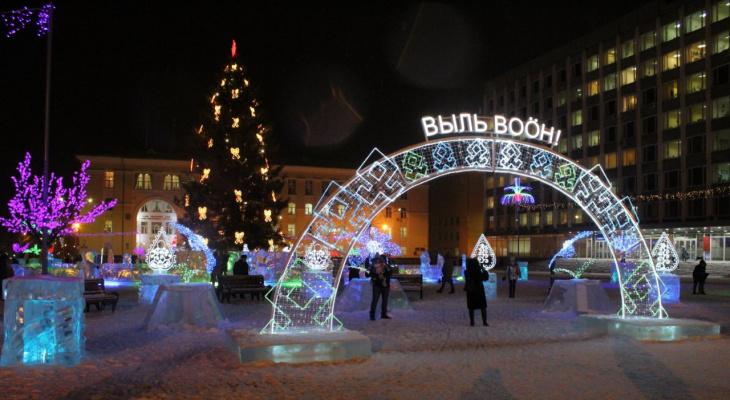 Прогулка по новогоднему Сыктывкару: как город подготовился к празднику