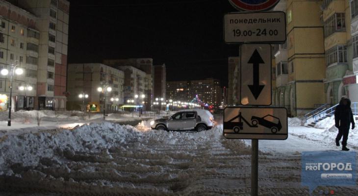 Сыктывкарцам, которые помешают уборке снега, пригрозили эвакуатором