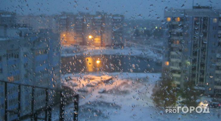 На Коми обрушился шторм с мощным южным ветром
