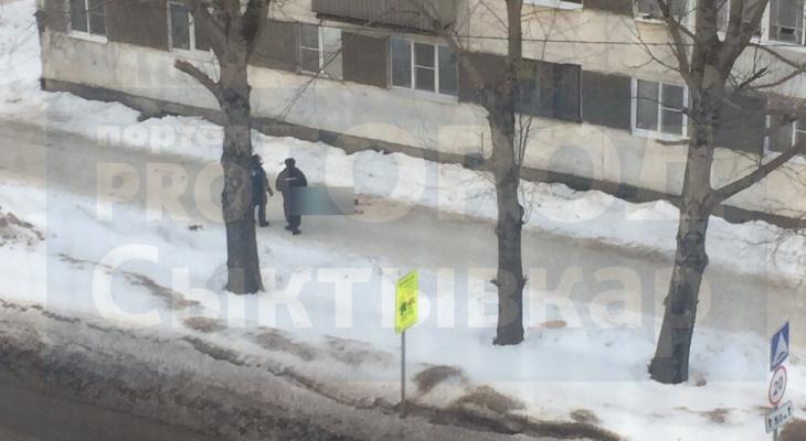 В Сыктывкаре из окна многоэтажки выпала женщина (фото 16+)