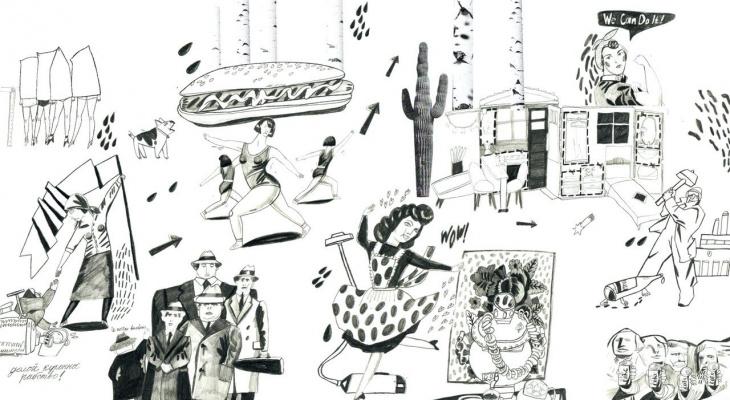 Картины о пропаганде и видео о жизни американца в Жешарте: в Сыктывкаре открывается нестандартная выставка