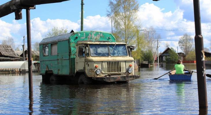Жителей Коми предупредили о резком повышении уровня воды