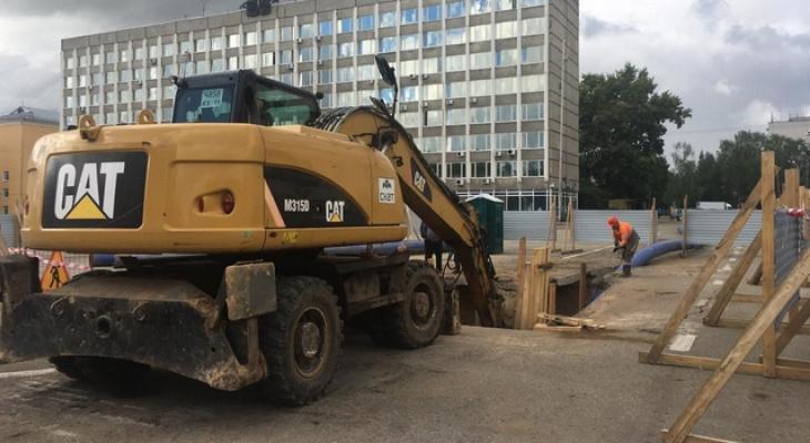 В Сыктывкаре перекрыли 110 метров Стефановской площади