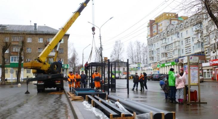 На площади Габова в Сыктывкаре устанавливают новые остановки