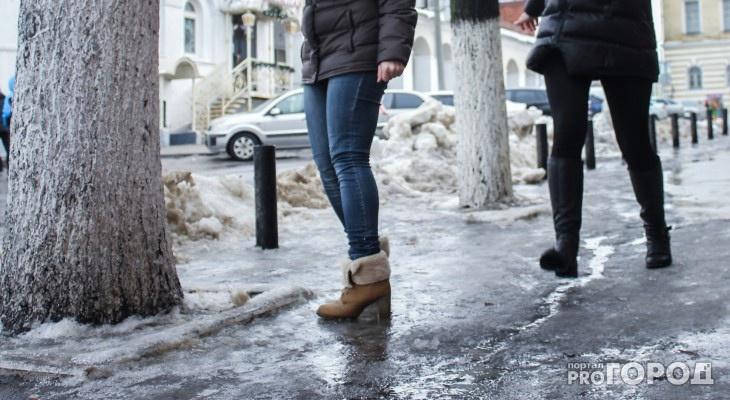 Выяснилось, сколько сыктывкарцев пострадало от падения на льду за ноябрь