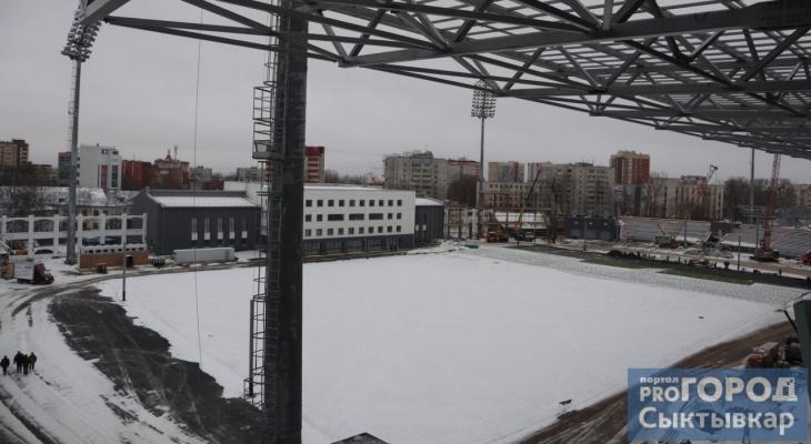 Минстрой Коми заявил о 90%-й готовности республиканского стадиона
