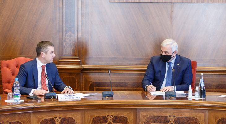 Глава Республики Коми Владимир Уйба встретился с руководителем «Ростелекома» на Северо-Западе Александром Логиновым