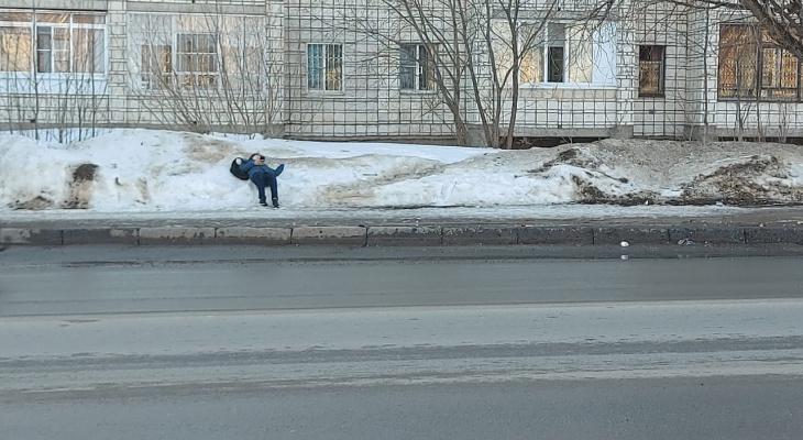 Фото дня в Сыктывкаре: гулял, гулял и что-то приуныл