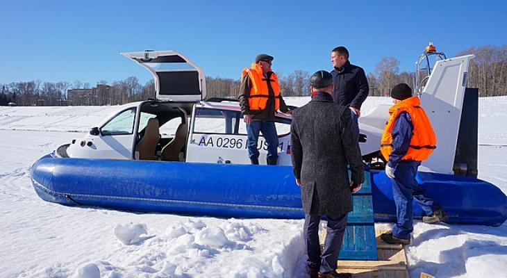 Сыктывкарцы будут переправляться через реку на судне с воздушной подушкой