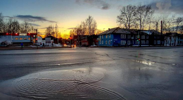 Фото дня в Сыктывкаре: апрельские вечера