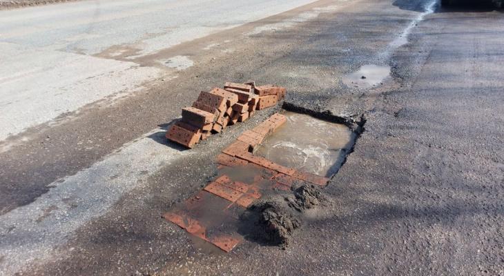 Жители Коми о «кирпичном» ремонте дорог: «Хоть так, и то спасибо»