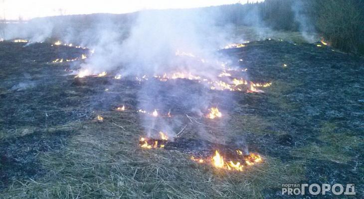 За сутки в Коми произошло 8 пожаров