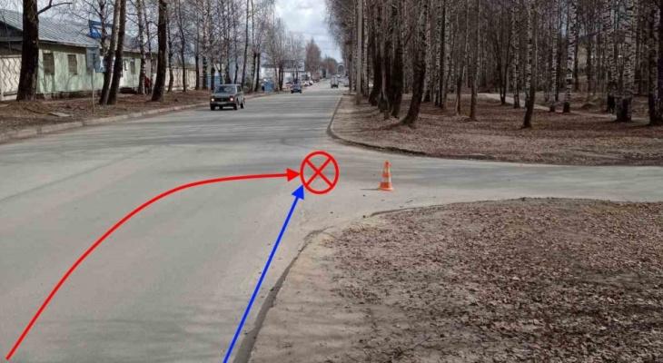 В Сыктывкаре велосипедистка угодила под колеса автомобиля