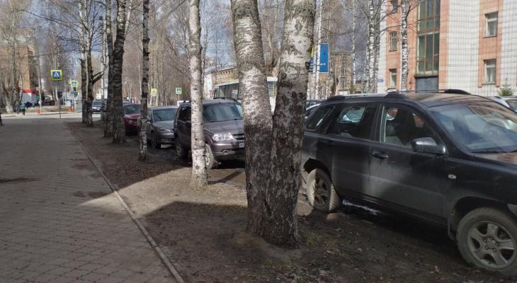 «При заезде на тротуар водитель может сбить пешехода»: сыктывкарские урбанисты стараются спасти газоны от машин