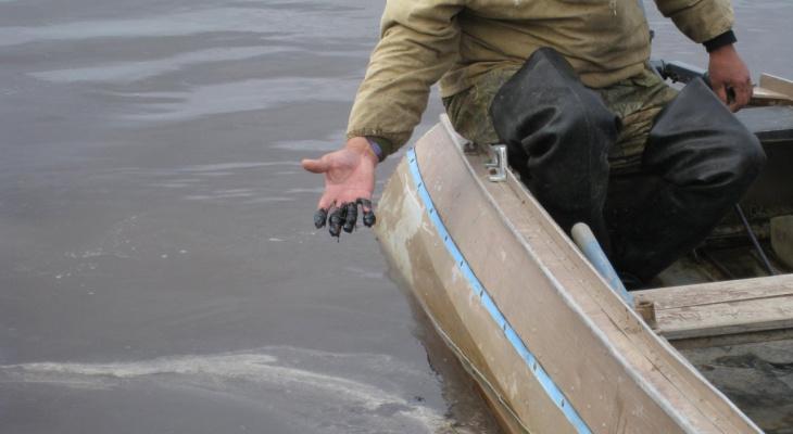 Прокуратура организовала проверку в связи с нефтеразливом на реке в Коми