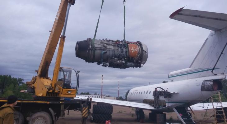 В Сыктывкаре разбирают самолет, на котором летали сенатор от Коми и Юлия Тимошенко