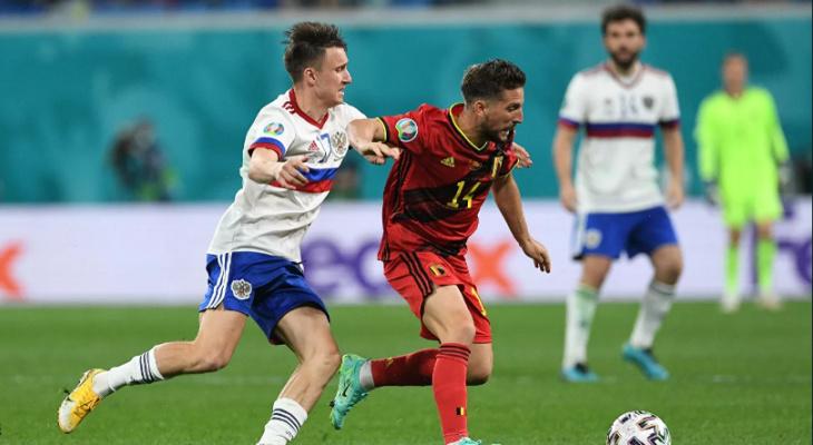 Сборная России крупно проиграла Бельгии в стартовом матче ЕВРО-2020