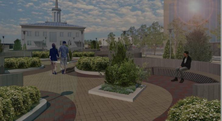 Стало известно, как будет выглядеть сквер у железнодорожного вокзала в Сыктывкаре