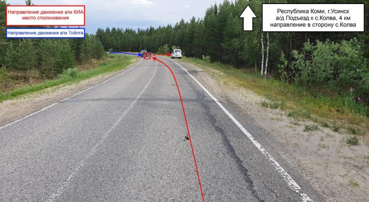 В Коми пьяный водитель врезался на трассе во внедорожник