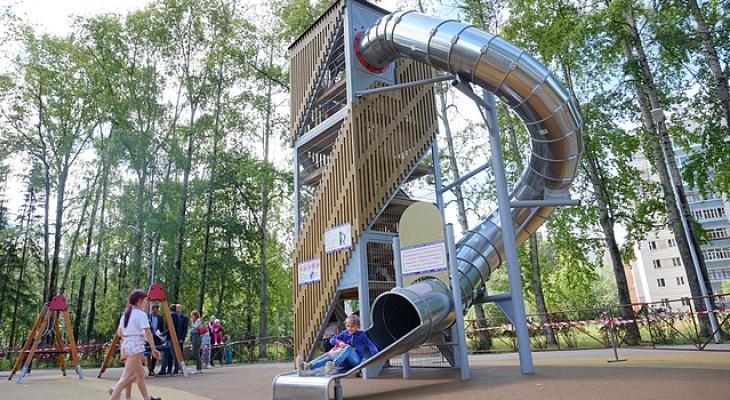 В Сыктывкаре открыли новую игровую площадку для детей