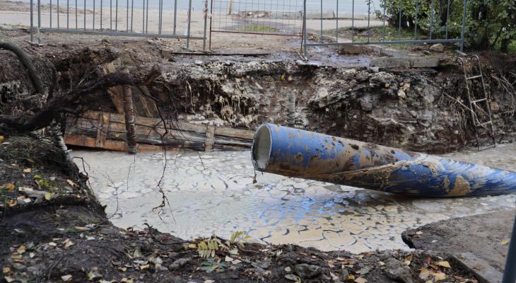 На территории Сыктывкарского госуниверситета случился потоп